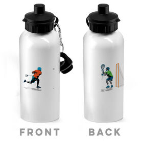 Guys Lacrosse 20 oz. Stainless Steel Water Bottle - Go For The Goal