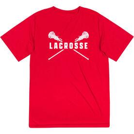 Girls Lacrosse Short Sleeve Performance Tee - Crossed Girls Sticks