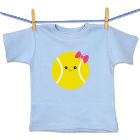 Tennis Baby T-Shirt Mini Tennis Ball Smile (Girl)