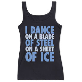 Figure Skating Women's Athletic Tank Top - I Dance On A Blade Of Steel