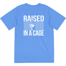 Baseball Short Sleeve Performance Tee - Raised in a Cage Baseball