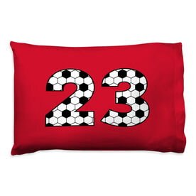Soccer Pillowcase - Custom Numbers