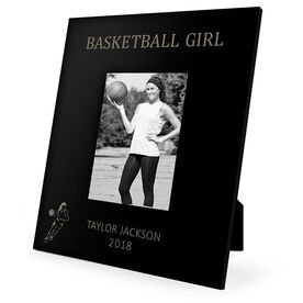 Basketball Engraved Picture Frame - Basketball Girl