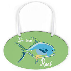 Fly Fishing Oval Sign - It's Been Reel