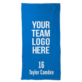 Field Hockey Beach Towel Custom Team Logo