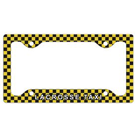 LACROSSE TAXI License Plate Holder