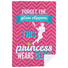 Girls Lacrosse Premium Blanket - This Princess Wears Cleats