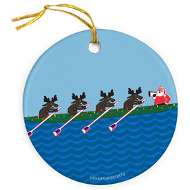Crew Porcelain Ornament Row Row Row Merry Christmas