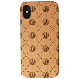 Golf Engraved Wood IPhone® Case - Golf Pattern