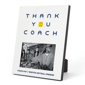 Softball Photo Frame - Thank You Coach