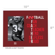 Football Photo Frame - Football Father Words