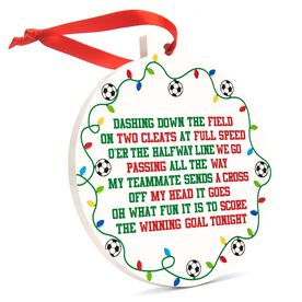 Soccer Round Ceramic Ornament - Jingle All the Way