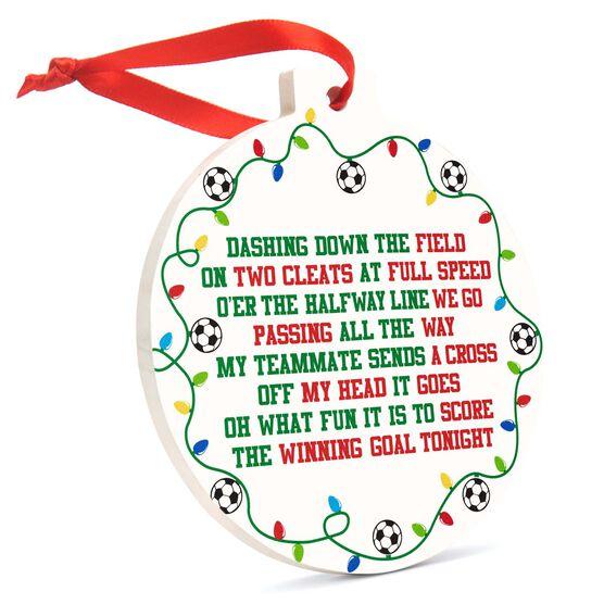 Soccer Round Ceramic Ornament - Jingle All the Way