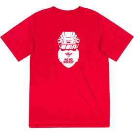 Hockey Short Sleeve Performance Tee - Ho Ho Santa Face