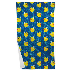 Lacrosse Beach Towel Rubber Ducky