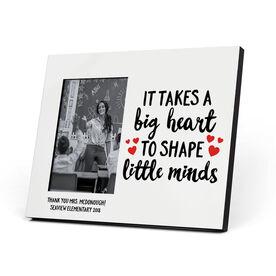 Personalized Teacher Photo Frame - Big Heart Little Minds