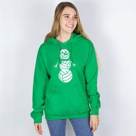 Volleyball Hooded Sweatshirt - Volleyball Snowman