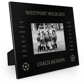 Soccer Engraved Picture Frame - Team Name With Roster (Coach)