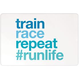 "Running 18"" X 12"" Aluminum Room Sign - Train Race Repeat"