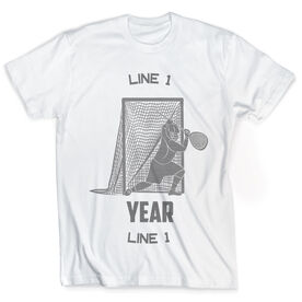 Lacrosse Vintage T-Shirt - Personalized Goalie Team Name