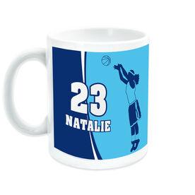 Basketball Coffee Mug Personalized Girl with Big Number