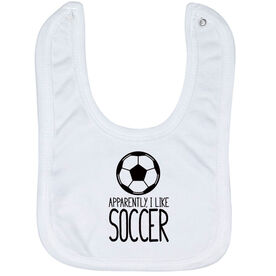 Soccer Baby Bib - Apparently, I Like Soccer