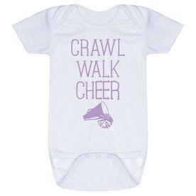 Cheerleading Baby One-Piece - Crawl Walk Cheer