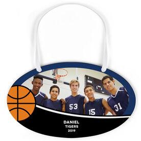 Basketball Oval Sign - Team Photo With Basketball