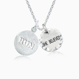 Livia Collection Sterling Silver She Believed Runner Necklace