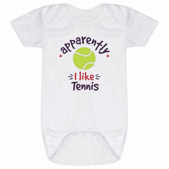 Tennis Baby One-Piece - Apparently, I Like Tennis