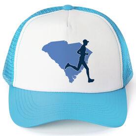 Running Trucker Hat - South Carolina Male Runner
