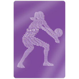 "Volleyball 18"" X 12"" Aluminum Room Sign - Personalized Volleyball Player Words"