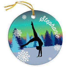 Gymnastics Porcelain Ornament Silhouette