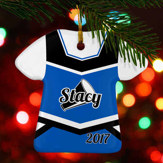 Cheerleading Porcelain Ornament Personalized Jersey
