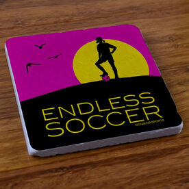 Endless Soccer (Girl) - Stone Coaster