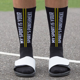 Cross Country Printed Mid-Calf Socks - Punishment Graphic