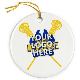 Girls Lacrosse Porcelain Ornament Your Logo