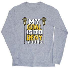 Guys Lacrosse Tshirt Long Sleeve - My Goal
