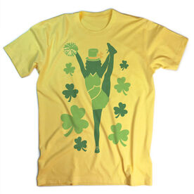 Vintage Cheerleading T-Shirt - Cheer For St. Patrick's Day