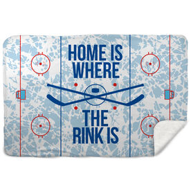 Hockey Sherpa Fleece Blanket - Home Is Where The Rink Is (Rink)