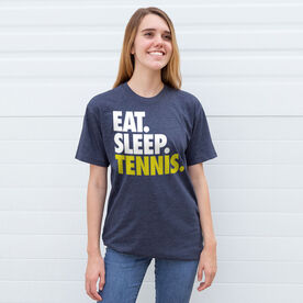 Tennis T-Shirt Short Sleeve Eat. Sleep. Tennis.