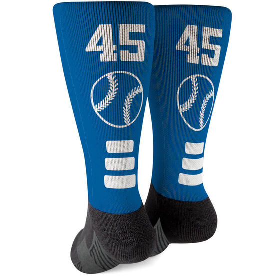 Baseball Printed Mid-Calf Socks - Team Colors