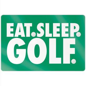 "Golf 18"" X 12"" Aluminum Room Sign - Eat Sleep Golf"
