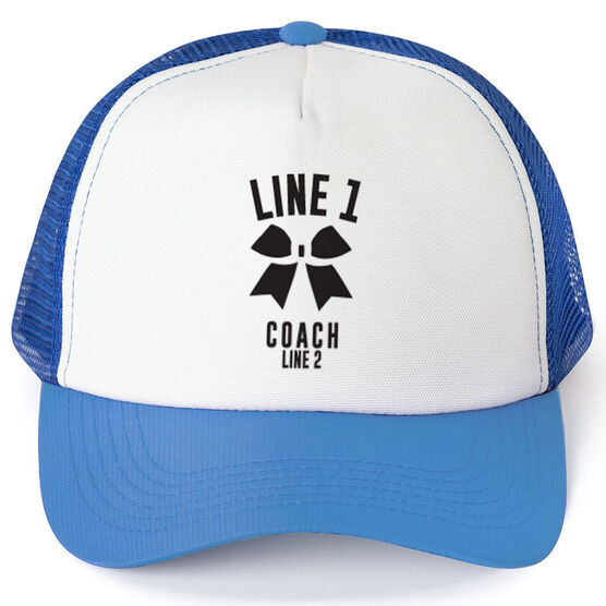 Cheerleading Trucker Hat - Team Name Coach With Curved Text