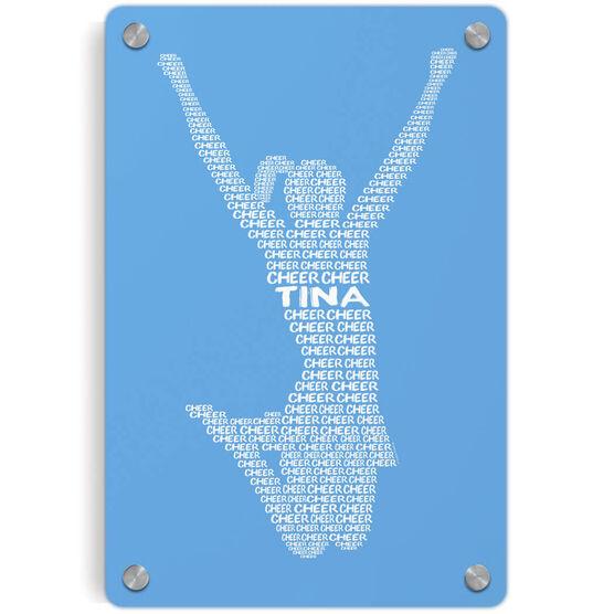 Cheerleading Metal Wall Art Panel - Personalized Cheer Words
