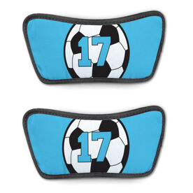 Soccer Repwell™ Sandal Straps - Soccer Ball with Number