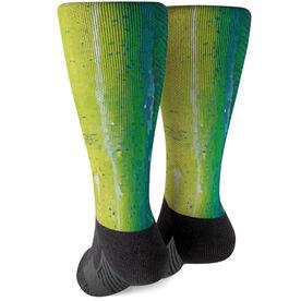 Fly Fishing Printed Mid-Calf Socks - Mahi-Mahi