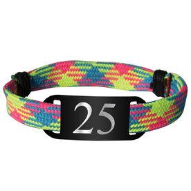 Personalized Sport Lace Bracelet Player Number Adjustable Sport Lace Bracelet