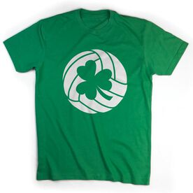 Volleyball Tshirt Short Sleeve Shamrock Volleyball