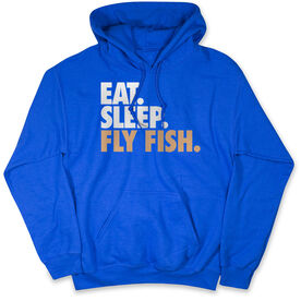 Fly Fishing Hooded Sweatshirt - Eat. Sleep. Fly Fish.